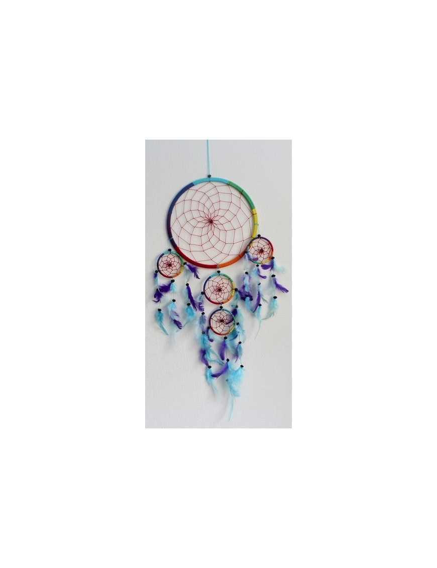 Dreamcatcher Grand Modèle Arc-en-Ciel - 26 cm