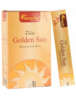 Encens Aromatika védic Golden Sun - soleil doré 15g