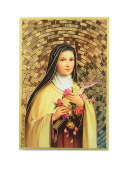Image sainte sur bois - Sainte Thérèse - 15x10