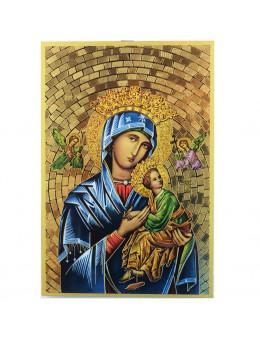 Image sainte sur bois - Perpétuel Secours - 15x10
