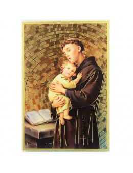 Image sainte sur bois - St Antoine - 15x10