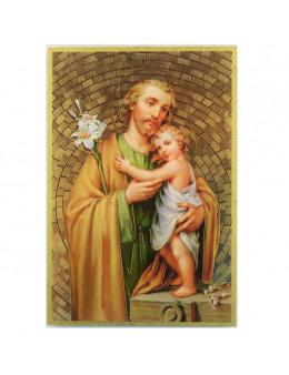 Image sainte sur bois - St Joseph - 15x10
