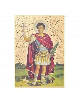 Image sainte sur bois - St Expédit - 15x10