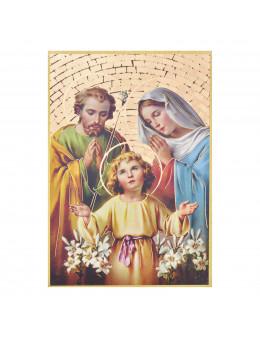 Image sainte sur bois - Sainte Famille - 15x10