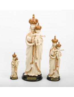 Statue résine Notre-Dame de la Délivrance peinte à la main