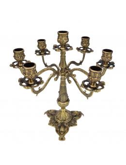 Chandelier 7 branches en cercle - Métal bronze