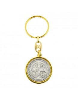 Porte clés métal Saint Benoit
