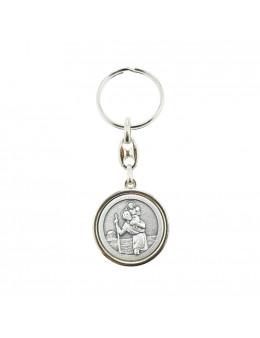 Porte clés métal Saint Christophe et Saint Michel