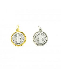 Médaille St Benoit métal argenté
