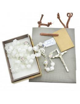 Chapelet cristal de bohème avec paters, coffret et emballage cadeau