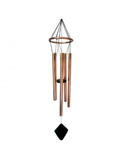 Carillon cercle cuivre et bois 5 tubes