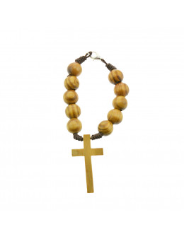 Dizainier corde et perles de bois imitation olivier