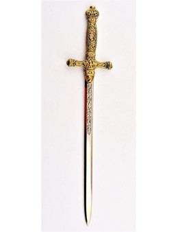 Dague maçonnique avec fourreau en simili cuir rouge
