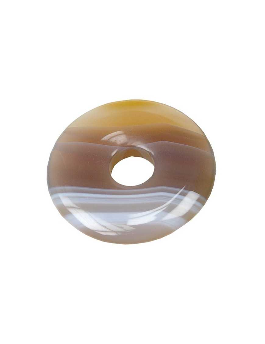 Pi Chinois Agate brune 30 mm
