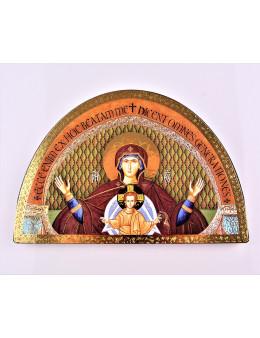 Chevalet image sur bois Vierge et enfant
