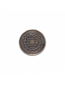 Pièce sacrée Shri Yantra recto-verso cuivre - 4 cm