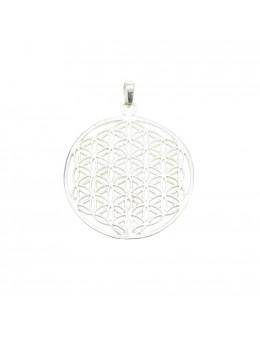 Pendentif Fleur de vie argent 925 - Diamètre 4 cm