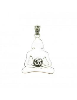 Pendentif yogi et Om, argent 925
