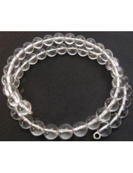 Double bracelet perles Cristal de roche 8 mm