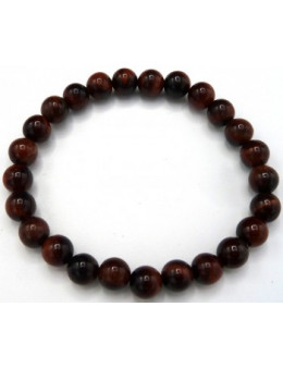 Bracelet perles Oeil de Taureau 8 mm