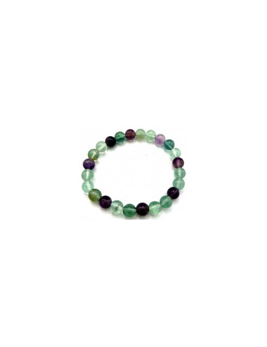 Bracelet perles Fluorite 8 mm