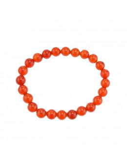 Bracelet perles Cornaline 6 mm