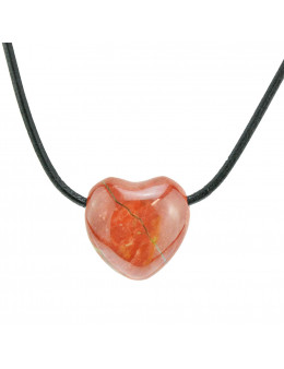 Collier corde et pierres forme coeur