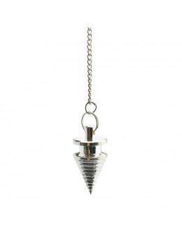 Pendule métal conique avec chaîne