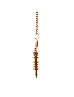 Pendule Isis en métal cuivré, petit format