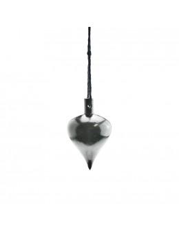 Pendule en bois de buis, forme goutte et corde