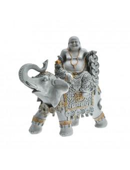Statue Bouddha sur éléphant
