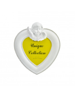 Cadre photo forme coeur avec ange